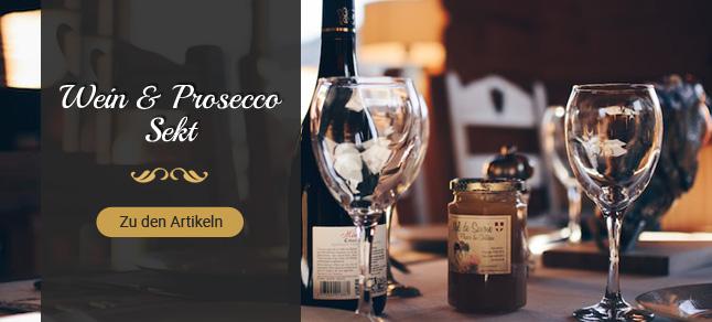 Wein, Prosecco, Sekt